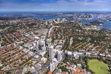 Aerial of Saint Leonards Sydney