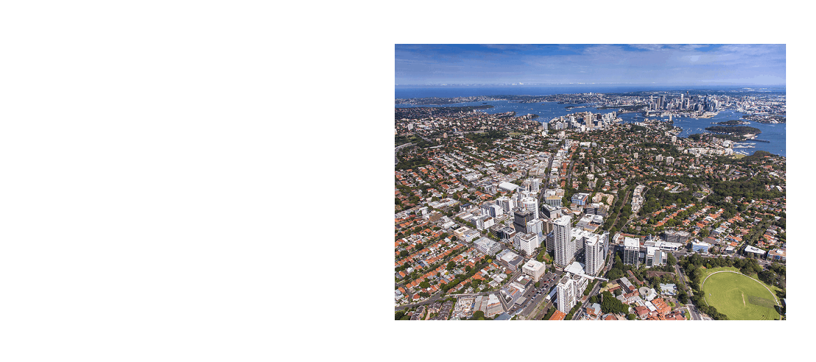 Aerial photo - St Leaonards with Sydney in the background