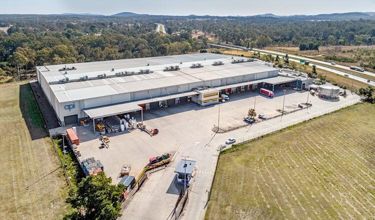 22 Hawkins Crescent, Bundamba, QLD aerial industrial property hero shot