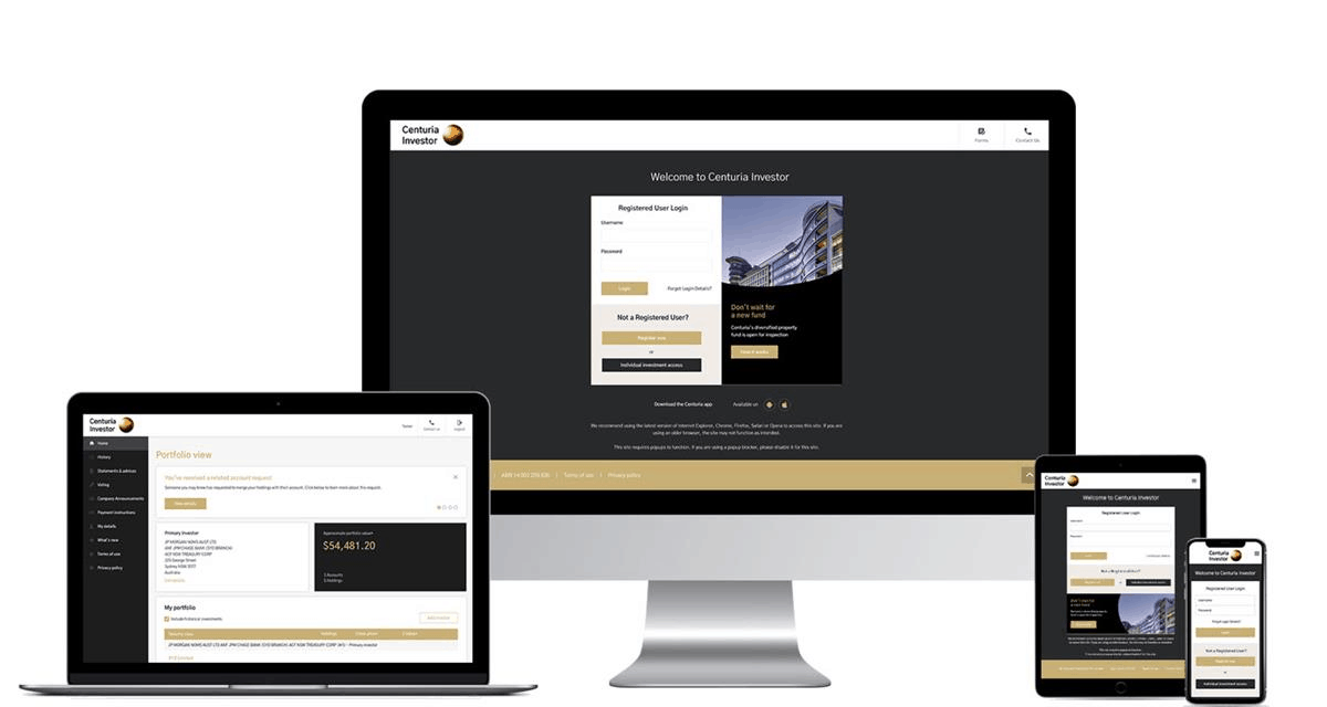 Boardroom website interface