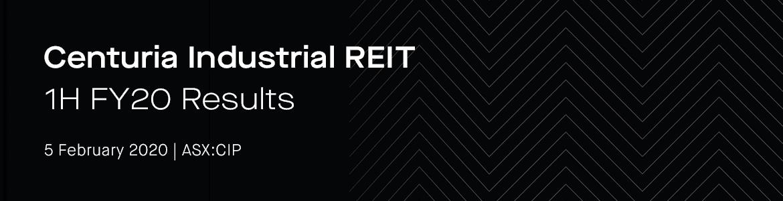 Centuria Industrial REIT (ASX:CIP) 1H FY20 results