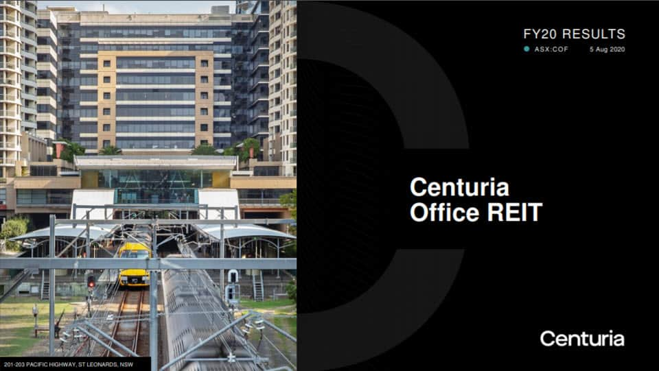 COF FY20 Results presentation cover
