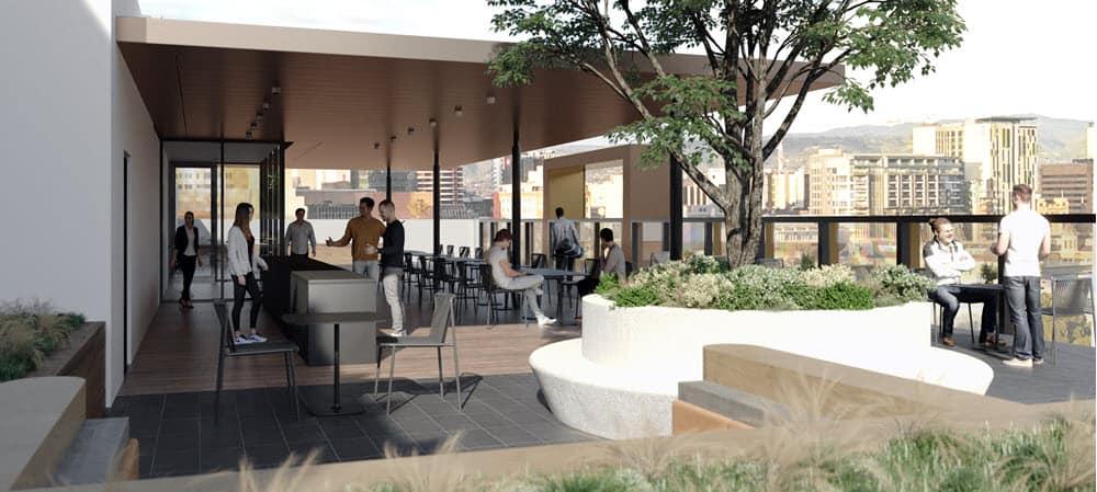 57_61 Wyatt Street Adelaide rooftop render